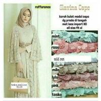 Jual Slavina Cape - long dress bahan lace import Murah