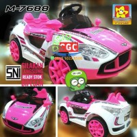 Mainan Mobil Aki Portege5 PMB M7688 7688 Remote Bluetooth Indikator