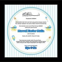 stiker/kartu ucapan aqiqah/stiker souvenir
