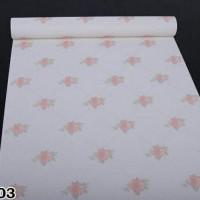 Jual Wallpaper premium tanpa lem 10m - Bunga cantik shabby Murah
