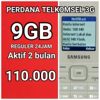 Perdana Internet Telkomsel 9gb