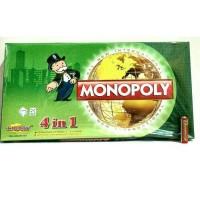 Jual Mainan Monopoli 4 in 1 Internasional / mainan tradisional / board game Murah