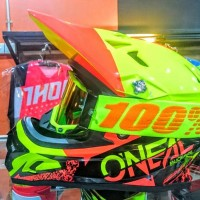 Helm Mtb Downhill Oneal Backflip Burnout red yellow 2018