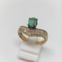 Cincin Emas Berlian Banjar Zamrud Columbia Natural Diamond Gold Ring