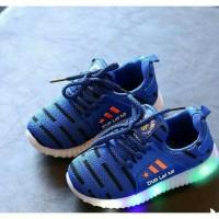 Jual Sepatu Sneakers Anak Adidas Sporty Import Murah Lampu LED Murah