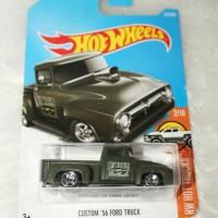 Hot Wheels Custom 56 Ford Truck Hijau Armi Miniature Mobil Classic