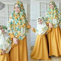 couple gamis korea dress ibu dan anak Liyana syar'i