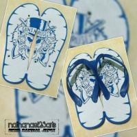 Sandal jepit ukir custom