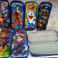 Jual Kotak pensil 3D hologram Doraemon Avenger Paw patrol Superman Batman Murah