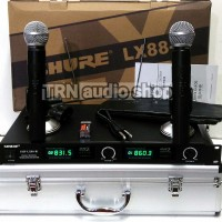 Mic Wireless UHF Shure LX88 III Hardcase Handle mic LX 88 III