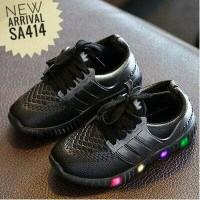 Jual Adidas LED Jelly Black sz 22-26/ Sepatu Anak / Sepatu Sekolah Anak LED Murah