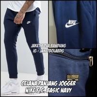 CELANA PANJANG JOGGER NIKE FC BASIC NAVY BLUE