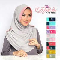 Jual XJB Jilbab Instant Isaura Two Tone Murah