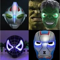 Jual Topeng Lampu Nyala LED Ultraman bima ironman spiderman power anger bar Murah