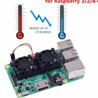 Jual Raspberry Pi Heatsink Double Fan Murah