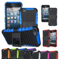 IPOD TOUCH 5/6 Armor Hard+Soft Case Cover bumper rugged xphase stand