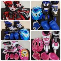 Jual sepatu roda anak lengkap helm body protektor inline skate Murah