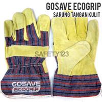 GoSave Ecogrip Kulit Kombinasi Sarung Tangan Kerja Leather Gloves