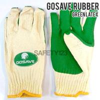 GoSave Rubber Latex Gloves Sarung Tangan Kerja Karet - Green Hijau