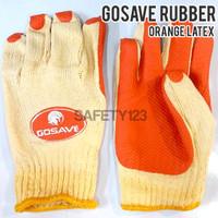 GoSave Rubber Latex Gloves Sarung Tangan Kerja Karet - Orange