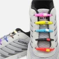 8 pcs Lazy Shoelace Hilaces Silicone / Tali Sepatu Silicone V-Tie