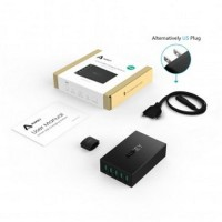 Aukey USB Charging Station 5 Port 50W 5V/10A with AIPower Tech PA U33