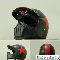 Jual Helm Cakil Black star Full Face Murah  Murah