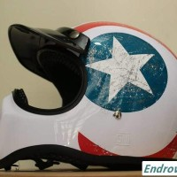 Jual Helm Cakil white star Full Face Murah  Murah