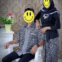 Stelan Kebaya Kutubaru Floy Black White Couple