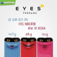 power bank Hippo Eyes 7000mah cute special edition powerbank original