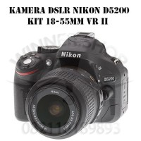 KAMERA DSLR NIKON D5200 D 5200 KIT 18-55mm VR II