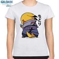 Kaos Wanita Pokemon x Naruto Uchiha Pikachu Chudori Gildan Original