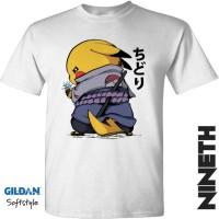 Kaos Pokemon x Naruto Uchiha Pikachu Chudori Gildan Original