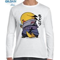 Kaos Lengan Panjang Pokemon x Naruto Uchiha Pikachu Chudori