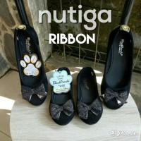 Sepatu Flat Shoes Anak Black Panda Cantik Manis Murah