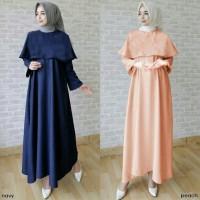 Jual Jual Baju Muslim Dwina Cape Gamis Dress Busana Muslim  Murah