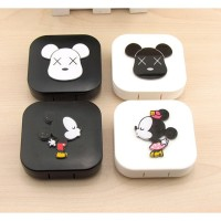 Jual kotak softlens mickey mouse Lovely contact lens box car Murah Murah