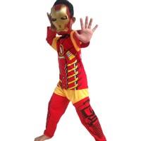 Jual Baju Anak Kostum Topeng Superhero Iron Man Murah