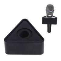 Microphone flag Hitam ABS station logo segi tiga mic interview triangl