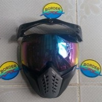 BARU Kaca Mask Buat helm Retro / Bogo yg pake kancing TERMURAH
