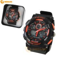 Jam Tangan Double Digital Analog Watch Lasika K Sport H9001 Orange