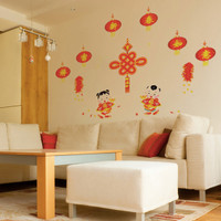 Jual Wall Sticker Imlek (Wall Sticker Nuansa Imlek) Paling Laris Murah