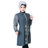 Harga baju atasan wanita batik couple sarimbit high quality abu | Pembandingharga.com