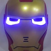 Jual mainan anak berkualitas Topeng Iron Man Merah Lampu Murah