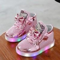 Jual Sepatu LED / Sepatu Lampu Anak Hello Kitty (IMPORT) Murah
