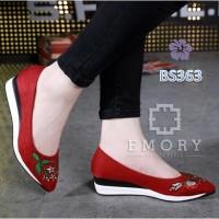 Sepatu Wanita Wedges Emory Garden Merah - BS363