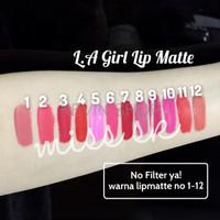 Jual PROMO LA Girl Lip Matte Flat finish pigment lips gloss SPECIAL Murah