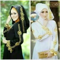 abaya / busana muslim / gamis arab ajwa hitam plus pasmina