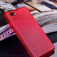 SONY Xperia Z1 Compact - Ultra Thin Slim Matte Hard Case 0.3mm RED