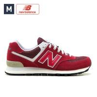 Sepatu Pria New Balance 574 Sneakers Vintage Red Original